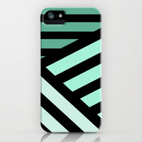STRIPED {MINT} iPhone Case by nataliesales   Society6