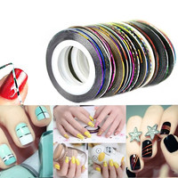 Rolls Striping Tape Line Painting Line Nail Sticker Nail DIY Kit Gel Tips Nail Art Accessories 10 Colors Set = 1945976836