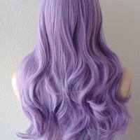 Halloween Special // Mauve colored wig. Pastel light purple  Long curly hair High quality Heat resistant Daily wearing / Cosplay wig.