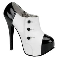 Teeze Black and White Shoes - Costume Shoes