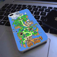 Super Mario World Map customized for iphone 4/4s/5/5s/5c samsung galaxy s3/s4/s5 and ipod 4/5 case