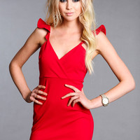 FLARE PLUNGE FIRE DRESS