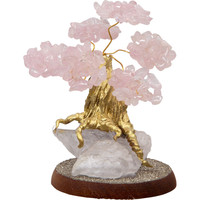 Rose quartz Bonsai Gemstone Wishing Tree