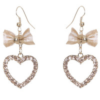 Mesh Bow Linear Earring | Shop Jewelry at Wet Seal
