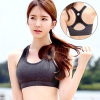 Young Style Cross Strap Back Women Sports Bra Sexy Push Up Yoga Bra Tops for Girls Gym Fitness Workout Running Exercises