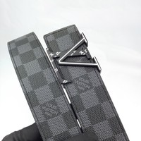 LV Louis Vuitton Men's Classic Casual Print Chess Belt