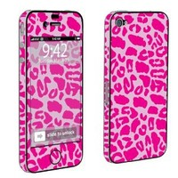 Apple iPhone 4 or 4s Full Body Decal Vinyl Skin - Pink Leopard By SkinGuardz