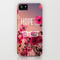 Hope in the Unseen iPhone & iPod Case by Pink Berry Pattern