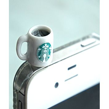 Starbucks Black Coffee Phone Plug