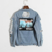 WHERE IS MY MIND - DENIM JACKET
