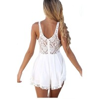 2014 Fashion Womens' Summer Strap Super Short Dresses Ladies Pink Lovely Beach Dresses ,Size 14,Pink:Amazon.co.uk:Clothing