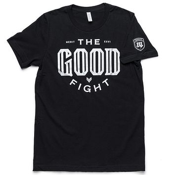 The Good Fight Tee - Black/Silver
