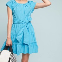 Tiered Poplin Swing Dress