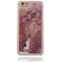 Unique shining sand cute little cat Phone Case Cover for Apple iPhone 7 7 Plus 5S 5 SE 6 6S 6 Plus 6S Plus + Nice gift box! LJ160927-005