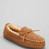 Minnetonka Sheep Hardsole Moccasin- Tan