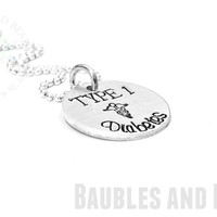 Personalized Hand Stamped Diabetic Necklace - Medical ID