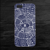 Blue Spiral Eye iPhone 4 and 5 Case