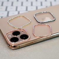 Sparkly Rhinestone Triple Camera Lens Protector For iPhone 11