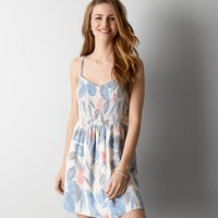AEO FLORAL FIT & FLARE DRESS