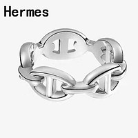Hermes 925 Silvery Classic Fashion Women Simple Ring Accessories Jewelry