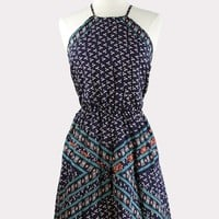 Haley Print Halter Dress