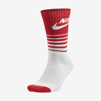 The Nike HBR Classic Striped Crew Socks.