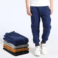 Autumn Boy Pants Spring cotton trousers children Sweatpants Sports casual Long pant For 5-14 years old kid boys