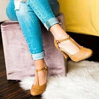 Toe Covers Women Chunky Heels Sandals Shoes