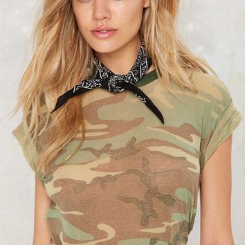 After Party Vintage You Know the Drill Camo Tee