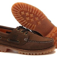 Timberland Boat Shoes Men Maroon