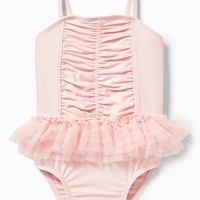 Ruched Tutu Swimsuit for Baby old-navy