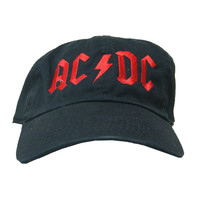 Rock Hard Vintage ACDC Dad Hat In Black