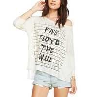 Chaser Oversized Boxy Pink Floyd The Wall Tee