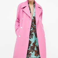 COLORED TRENCH COAT DETAILS