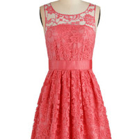 BB Dakota Mid-length Sleeveless A-line When the Night Comes Dress in Coral