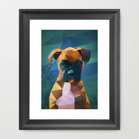The Boxer - Dog Portrait Framed Art Print by Ed Burczyk