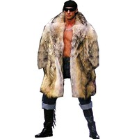 S-6XL New Fashion Men Winter Clothes Autumn and Winter Clothes Raccoon Fur Coat Faux Fur Coat Man  Winter Trench Coat