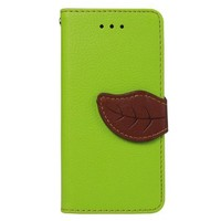 JAVOedge Leaf Book Case with Card Slots for the Apple iPhone 5C (Green)