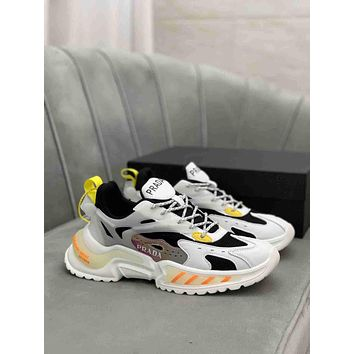 prada men fashion boots fashionable casual leather breathable sneakers running shoes 0621
