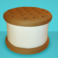 Chip Ottoman  We make art possible, from limited edition toys to apparel, and much much more!