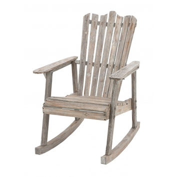 Weathered Wood Rocking Chair
