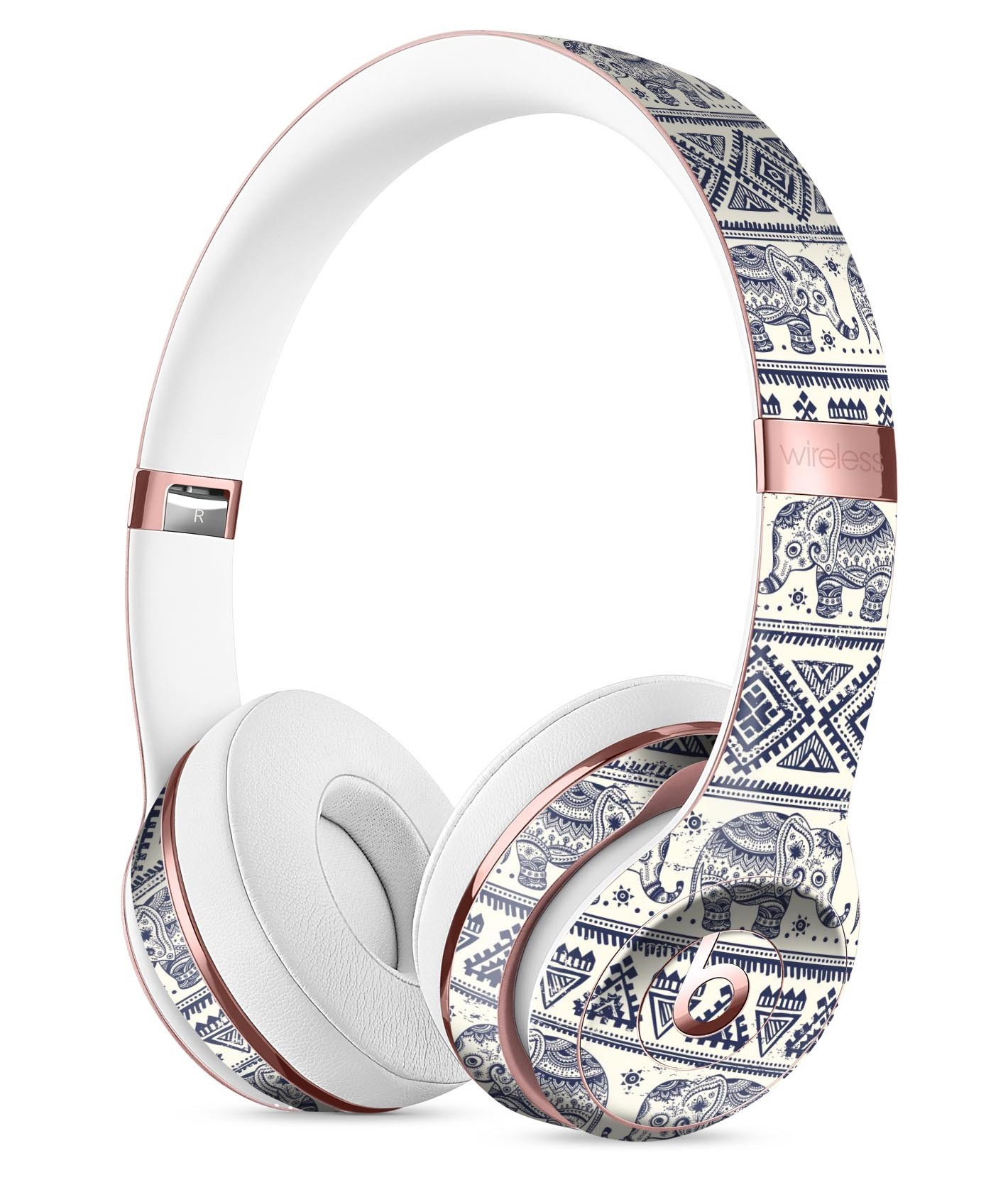 Image of Sacred Elephant Pattern Full-Body Skin Kit for the Beats by Dre Solo 3 Wireless Headphones