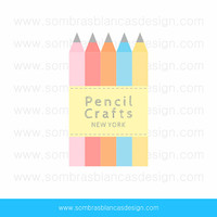 OOAK Premade Logo Design - Pencil Crafts - Perfect for an arts and crafts shop