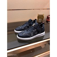 lv louis vuitton men fashion boots fashionable casual leather breathable sneakers running shoes 225