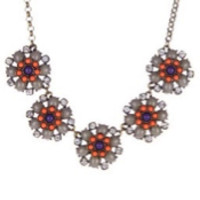 Jeweled Floral Statement Necklace
