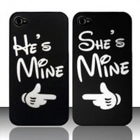 CUTE COUPLE HARD PLASTIC MATTE SNAP ON PHONE CASE COVER FOR APPLE IPHONE 4 / 4S [In Casesity Retail Packaging]