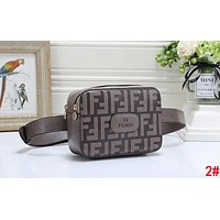 FENDI Trending Women Men Stylish Leather Purse Waist Bag Single-Shoulder Bag Crossbody Satchel 2#