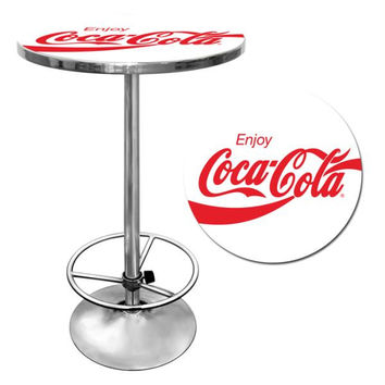 Enjoy Coke White Pub Table