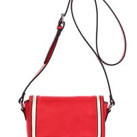 Contrast Bow Red Shoulder Bag