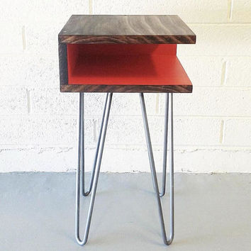 Case Modern Side Table, Nightstand, End Table, Mid Century, Hairpin Legs, Sofa Table, Corner Table, Square